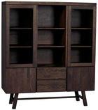 HIGHBOARD - mörkbrun, Klassisk, trä (130/150/45cm) - Rowico