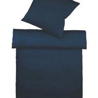 BETTWÄSCHE Makosatin Dunkelblau 155/220 cm - Dunkelblau, Basics, Textil (155/220cm) - Fleuresse