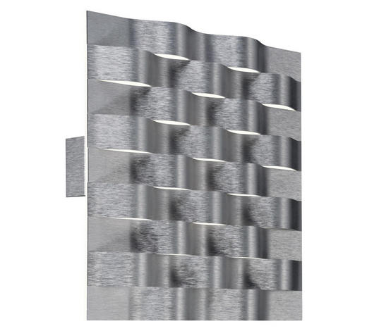 LED-WANDLEUCHTE - Alufarben, Design, Metall (27/27/3,2cm) - Großmann