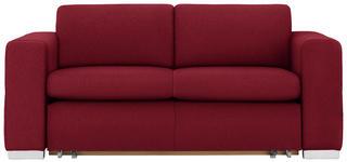 SCHLAFSOFA in Textil Bordeaux  - Bordeaux/Alufarben, KONVENTIONELL, Kunststoff/Textil (190/83/98cm) - Carryhome