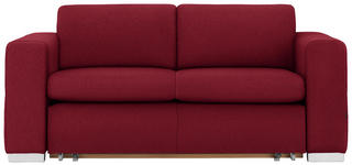 SCHLAFSOFA in Textil Rot  - Silberfarben/Rot, KONVENTIONELL, Kunststoff/Textil (190/83/98cm) - Carryhome