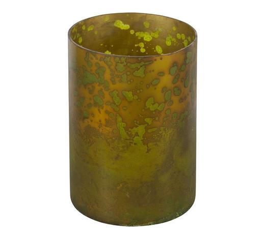 KERZENHALTER - Messingfarben, Design, Glas (10/10cm) - Carryhome