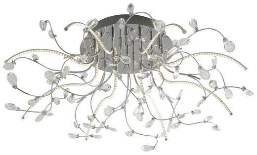 LED-DECKENLEUCHTE - Chromfarben, Design, Glas/Metall (77cm)