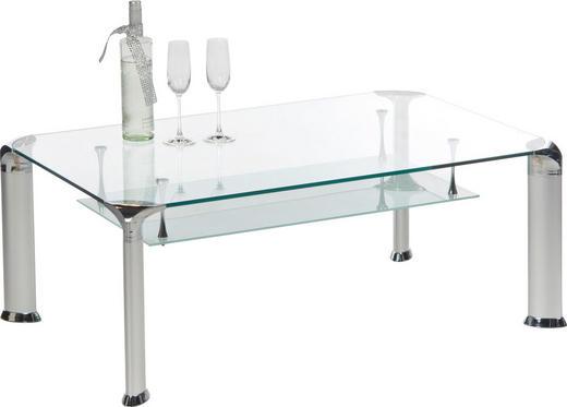COUCHTISCH rechteckig Alufarben - Alufarben, Design, Glas/Metall (110/70/43cm) - Carryhome