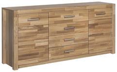 SIDEBOARD 163/78/40 cm  - Eichefarben/Alufarben, Design, Holz/Metall (163/78/40cm) - Landscape