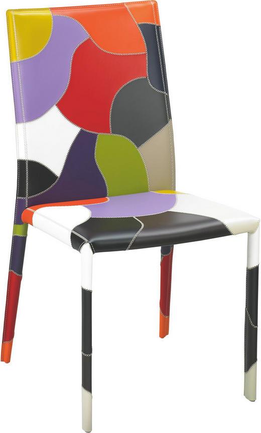 STUHL Echtleder Multicolor - Multicolor, Design, Leder/Metall (48,5/95/56,5cm) - Hülsta