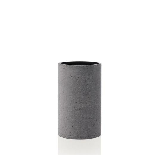 VASE 20,0 cm - Dunkelgrau, Basics, Stein (20cm) - Blomus