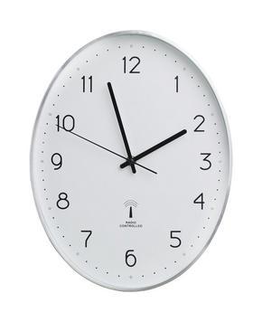 VÄGGKLOCKA - vit/silver, Basics, metall/glas (27,3/34,9/4,3cm) - Boxxx