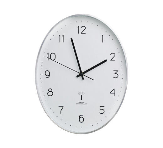 HODINY NÁSTĚNNÉ, černá, barvy stříbra, bílá,  - bílá/černá, Basics, kov/umělá hmota (27,3/34,9/4,3cm) - Boxxx