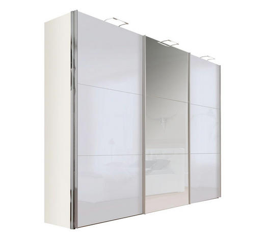 SKŘÍŇ S POSUVNÝMI DVEŘMI, šedá, bílá - šedá/bílá, Design, kov/kompozitní dřevo (300/236/68cm) - Hom`in