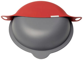 Kochhut - Rot/Grau, Design, Kunststoff (24 & 28 cm) - Der Kochhut