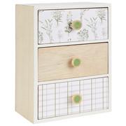 DEKOKÄSTCHEN - Naturfarben/Weiß, Trend, Holzwerkstoff (17,5/24/11,5cm) - Ambia Home
