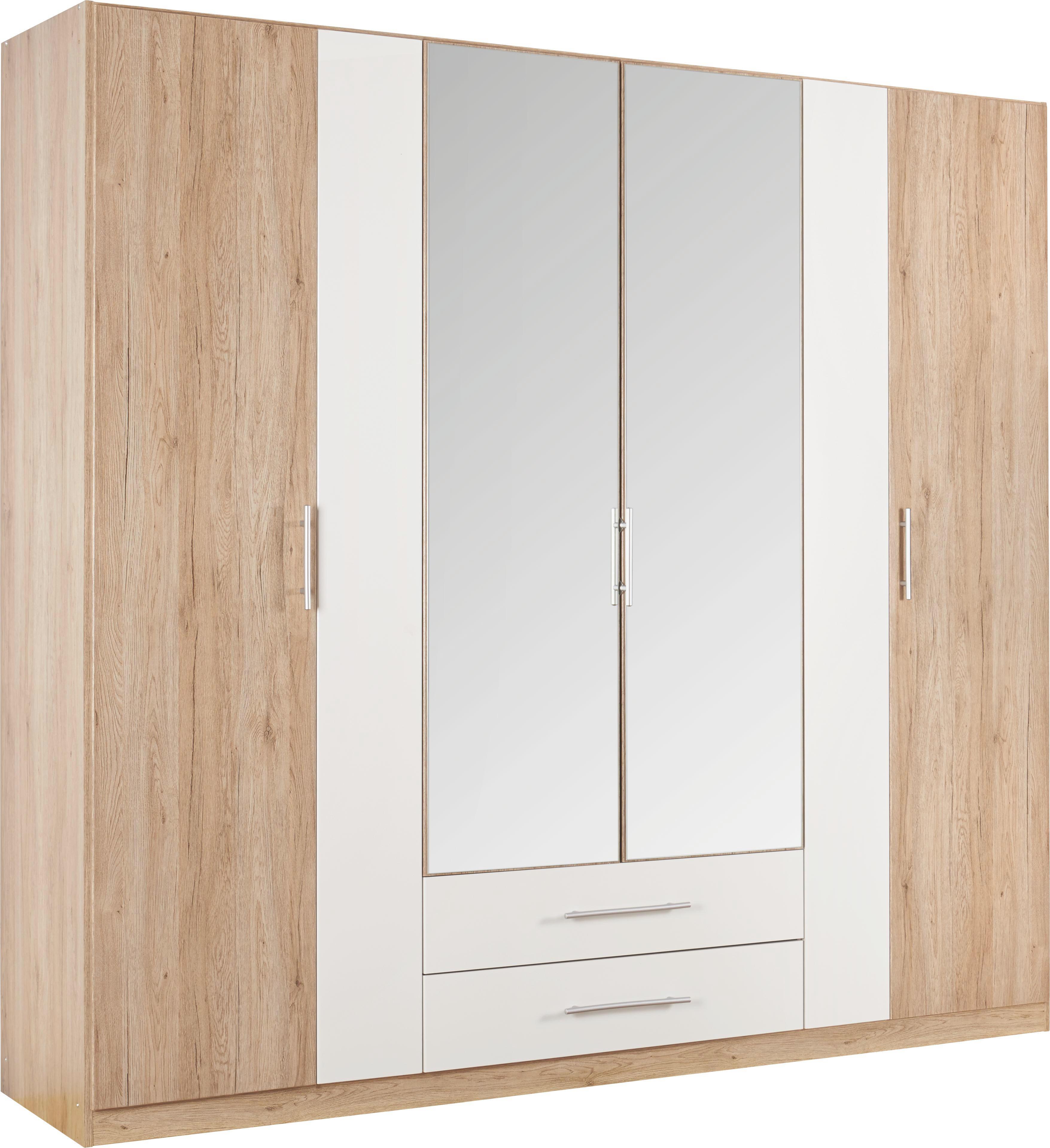 SKŘÍŇ - bílá/barvy dubu, Konvenční, dřevěný materiál/umělá hmota (226/212/56cm) - BOXXX