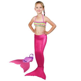 MEERJUNGFRAUEN SET - Pink, Trend, Kunststoff (108cm)