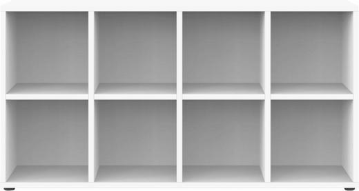 REGAL Weiß - Weiß, Design (143,1/72,2/33,3cm) - Welnova