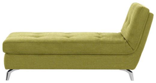 RECAMIERE in Textil Grün - Chromfarben/Grün, Design, Textil/Metall (200/110/83cm) - Bali