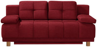 BOXSPRINGSOFA in Textil Rot  - Chromfarben/Rot, MODERN, Textil/Metall (202/92/104cm) - Novel