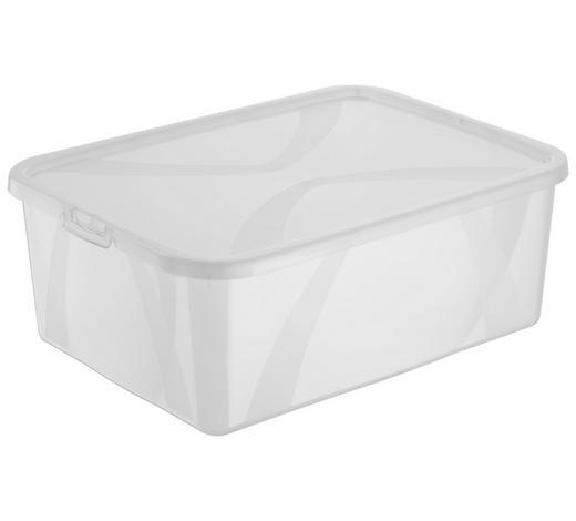 BOX S VÍKEM, 10 l - průhledné, Basics, umělá hmota (36,3/26,6/13,4cm) - Rotho