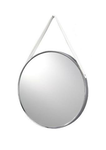 OGLEDALO, kovina, steklo, tekstil - Design, kovina/steklo (42,5/3cm) - Xora