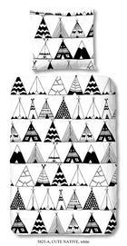 JUGENDBETTWÄSCHE Renforcé Schwarz, Weiß 135/200 cm - Schwarz/Weiß, Trend, Textil (135/200cm)