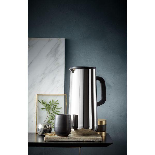 ISOLIERKANNE - Silberfarben/Schwarz, Design, Glas/Kunststoff (20,7/17,3/30cm) - WMF