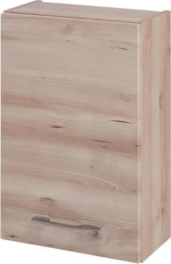 OBERSCHRANK Buchefarben - Chromfarben/Buchefarben, KONVENTIONELL, Holzwerkstoff/Metall (40/64/20cm) - Xora