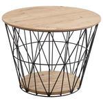 COUCHTISCH in Holz, Metall 62/62/46 cm  - Eichefarben/Anthrazit, Design, Holz/Metall (62/62/46cm) - Valnatura