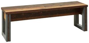 SITZBANK Grau, Pinienfarben  - Grau/Pinienfarben, KONVENTIONELL (140/44/35cm) - Hom`in