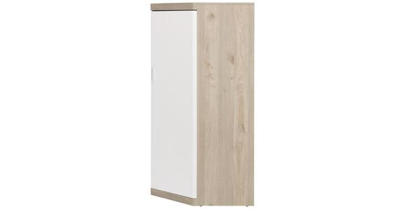 ECKSCHRANK in Weiß, Eichefarben  - Eichefarben/Weiß, KONVENTIONELL, Holzwerkstoff (73/139/73cm) - Xora