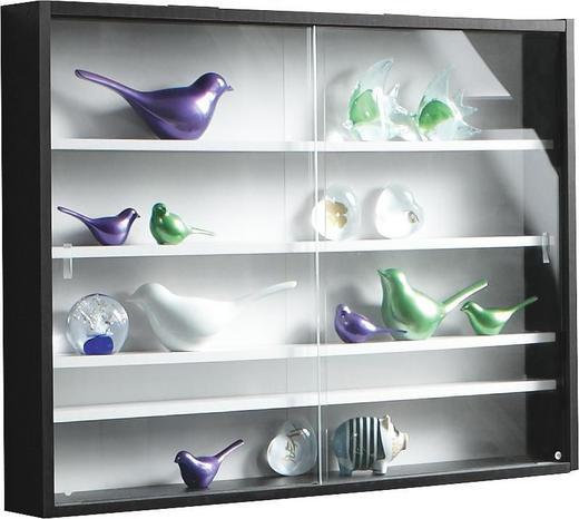 HÄNGEVITRINE Schwarz, Weiß - Schwarz/Weiß, Design, Glas/Holzwerkstoff (80/60/10cm) - Carryhome