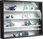 HÄNGEVITRINE Schwarz, Weiß - Schwarz/Weiß, MODERN, Glas/Holzwerkstoff (80/60/10cm) - CARRYHOME