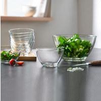 SCHÜSSELSET Glas 7-teilig - Transparent, Basics, Glas - LEONARDO