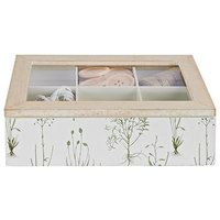 DEKOBOX - Naturfarben/Weiß, Trend, Glas/Holz (23/7/16cm) - Ambia Home