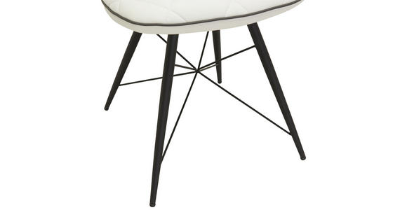STUHL in Metall, Textil Schwarz, Weiß - Schwarz/Weiß, Design, Textil/Metall (49/90/61cm) - Hom`in