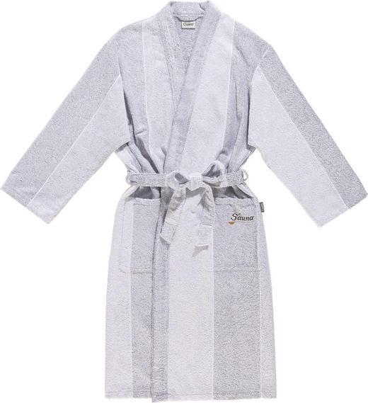 BADEMANTEL  Grau, Silberfarben - Silberfarben/Grau, Textil (M) - CAWOE