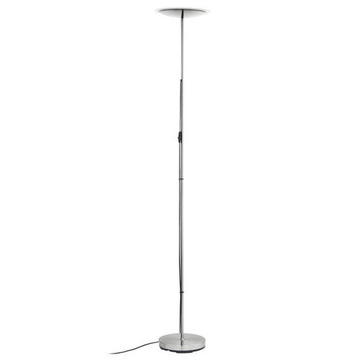 STEHLEUCHTE - Nickelfarben, Design, Kunststoff/Metall (30/181cm)