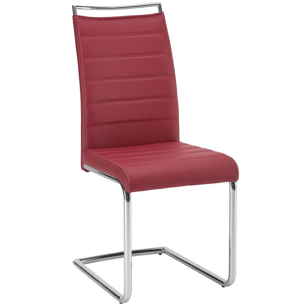 Pohupovací Židle Barvy Chromu Bordeaux Novel - barvy chromu bordeaux