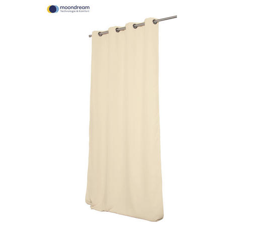 VERDUNKELUNGSVORHANG  Verdunkelung  145/260 cm   - Creme, Design, Textil (145/260cm)