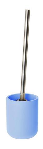 WC-BÜRSTENGARNITUR Kunststoff - Chromfarben/Blau, Basics, Kunststoff/Metall (8,9/10,8/8,9cm) - CELINA