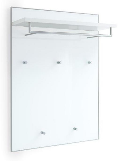 GARDEROBENPANEEL lackiert Weiß - Weiß, Design, Glas (80/109/27cm)