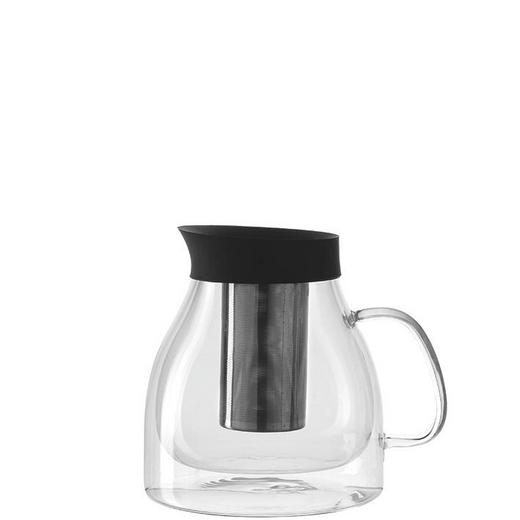TEEKANNE - Edelstahlfarben/Transparent, Design, Glas/Kunststoff (18,70/16,40/15,00cm) - Leonardo