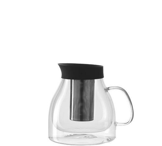 TEEKANNE 1 l - Edelstahlfarben/Transparent, Design, Glas/Kunststoff (1l) - Leonardo