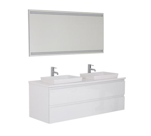 BADEZIMMER - Weiß, Design, Holzwerkstoff (140cm)