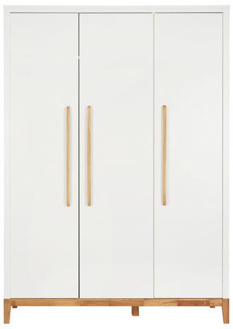 BABYKLEIDERSCHRANK Scandic Weiß, Eichefarben - Eichefarben/Weiß, Design, Holz/Holzwerkstoff (135/190/55cm) - Jimmylee