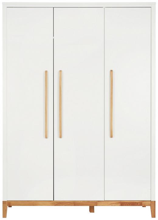 BABYKLEIDERSCHRANK Scandic Eichefarben, Weiß - Eichefarben/Weiß, Design, Holz/Holzwerkstoff (135/190/55cm) - Jimmylee