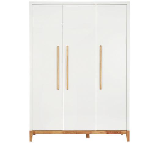 BABYKLEIDERSCHRANK Scandic - Eichefarben/Weiß, Design, Holz/Holzwerkstoff (135/190/55cm) - Jimmylee