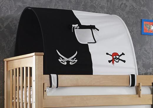 TUNNELSET Schwarz, Weiß - Schwarz/Weiß, Design, Textil