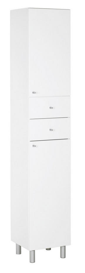 HÖGSKÅP - vit/silver, Klassisk, metall/trä (35/186/33cm) - Low Price