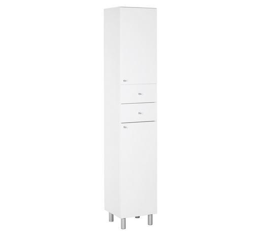 VYSOKÁ SKŘÍŇ, bílá - bílá/barvy stříbra, Konvenční, kov/dřevo (35/186/33cm) - Xora