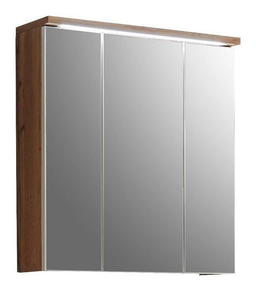 SPIEGELSCHRANK 70/74/20 cm - Eichefarben, Design, Glas/Holzwerkstoff (70/74/20cm) - Xora